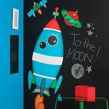 Zoomie Kids Rocket Ship Wall Decal Reviews Wayfair