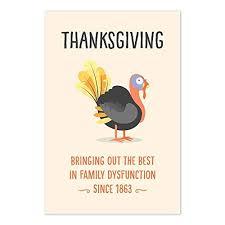 com funny thanksgiving quote family dinner art print