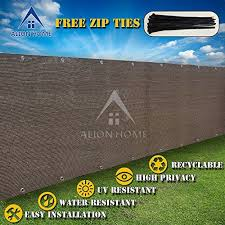 Alion Home Hdpe Privacy Screen Mesh For Pool Patio Deck Balcony Railing Fence No Black Trim 5x 26 Mocha Brown This Is An Patio Deck Backyard Deck Pool Porch