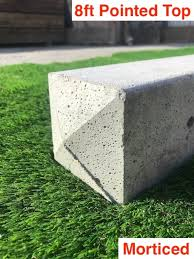 G G 8ft 2400mm Concrete Morticed Fence Posts Pointed Top