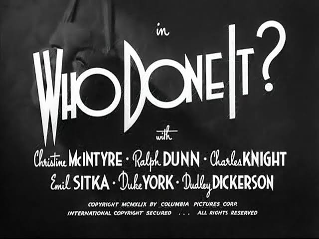 Image result for The Three Stooges: Who Done It (1949)