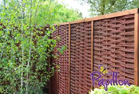 Framed Willow Hurdles Fencing Panels 1 82m X 1 82m 6ft X 6ft By Papillon 79 99 Willow Fence Panels Fence Panels Bamboo Fence