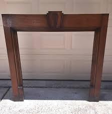 antique fireplace mantel solid oak
