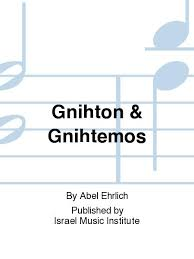 Gnihton And Gnihtemos By Abel Ehrlich - Sheet Music For Contrabass, Horn In  F, Oboe, Percussion, Piano, Speaker, Violin (Buy Print Music PR.554009170  From Israel Music Institute At Sheet Music Plus)