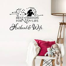 Husband And Wife Best Friends For Life Removable Vinyl Wall Art Decal Sticker