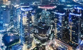 jakarta indonesia aerial view wallpaper