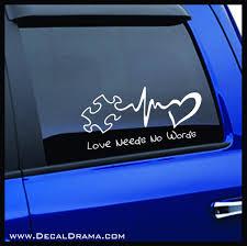 Love Needs No Words Autism Awareness Vinyl Car Laptop Decal Decal Drama