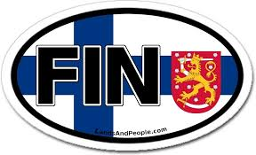 Amazon Com Finland Fin And Finnish Flag Car Bumper Sticker Decal Oval Arts Crafts Sewing