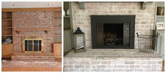 how to whitewash a brick fireplace 7