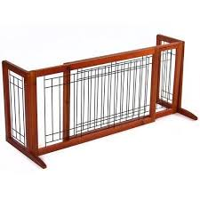 Best Choice Products Adjustable Freestanding Pet Dog Fence Gate For Small Animals Brown Walmart Com Dog Gate Pet Fence Pet Gate