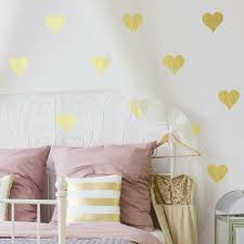 Gold Foil Hearts Peel And Stick Wall Decals Roommates Decor