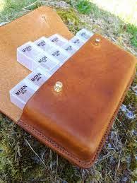 handmade leather pill
