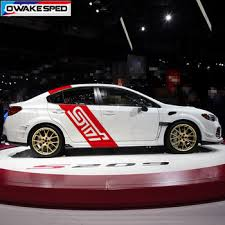 For Subaru Wrx Sti Graphics Vinyl Decals Racing Sport Stripes Car Body Door Side Decor Stickers Auto Diy Exterior Accessories Buy At The Price Of 23 99 In Aliexpress Com Imall Com