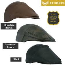 mens leather flat cap peaky blinders