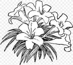 flower black and white clip art png