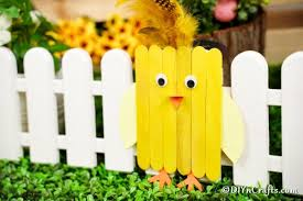 Easy Painted Popsicle Stick Chicken Craft Diy Crafts