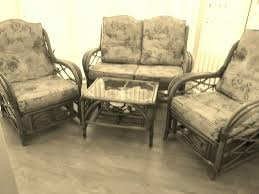 bamboo style 2 seater 2 chairs and a