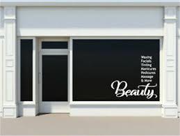 Personalised Nail Spa Beauty Hair Salon Shop Sticker Window Vinyl Decal Wall Art Ebay