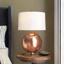 Joss Main Bundella 26 Copper Clear Table Lamp Reviews Wayfair