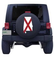 Alabama State Flag Tire Cover
