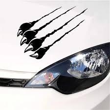18x30cm 3d Funny Car Sticker Monster Scratch Stripe Claw Marks Car Auto Headlight Decoration Pvc Decal Car Stickers Car Stickers Aliexpress