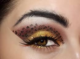 leopard eye makeup transfers saubhaya
