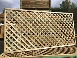 6x3 Elite Highgrove Lattice Diamond Trellis 180x90cm Garden Wood Fence Topper Ebay