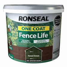 Ronseal One Coat Fence Life Forest Green Matt Fence Shed Wood Treatment 9l Departments Diy At B Q