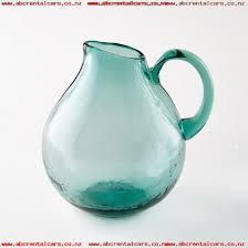 galindo hand blown glass jug am pm