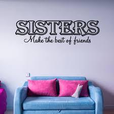 Vwaq Sisters Make The Best Friends Family Vinyl Wall Art Decal