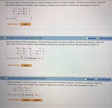 solve the system of linear equations