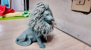 Hairy Lion - 3D printing - YouTube