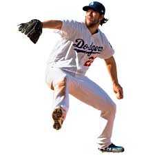 Clayton Kershaw Los Angeles Dodgers Fathead Life Size Removable Wall Decal