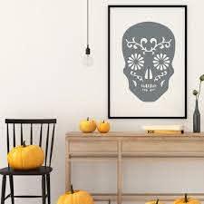 Halloween Decoration Skeleton Wall Vinyl Decor Wall Decal Customvinyldecor Com
