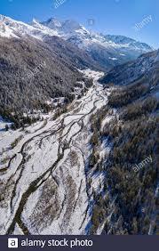 Chiareggio - Valmalenco (IT) - Vertical panoramic aerial view ...