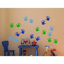 Handprint Vinyl Wall Decals Sticker Great For Classroom Daycares And Preschool Ice Blue Traffic Blue Lime Green 18 Piece Walmart Com Walmart Com