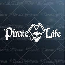 Best Buys On Pirate Life Captains Skull Car Truck Stickers