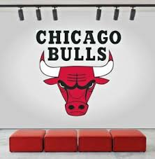 Chicago Bulls Logo Wall Decal Sports Window Sticker Home Decor Vinyl Nba Cg046 Ebay