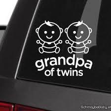 Grandma Of Twins White Vinyl Car Decal Twin Girls Twin Boys Etsy