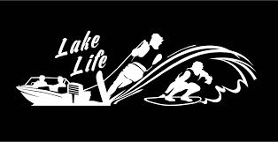 Lake Life Decal Water Skier Decal Wake Surfer Decal Boat Decal Vinyl Decal Car Decal Truck Window Custom Water Spo Truck Window Stickers Custom Vinyl Lake Life