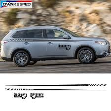 Motorsport Graphics Vinyl Decal Auto Side Door Waist Line Stripes For Mitsubishi Outlander Ex Car Styling Body Sticker Car Stickers Aliexpress