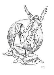 Kleurplaten Nt De Engel Gabriel Op Bezoek Bij Maria