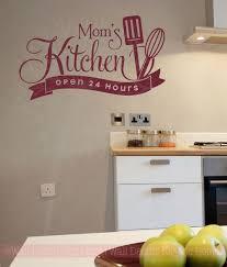 Mom S Kitchen Open 24 Hours Vinyl Family Wall Sticker Decals Kitchen Art