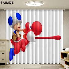 Super Deal F0e3d Popular Super Mario Curtains For Livring Room Cartoon Kids Bedroom Window Blackout Curtains Ultra Thin Micro Shading Cortinas Cicig Co
