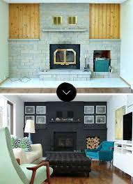 a bold black fireplace makeover