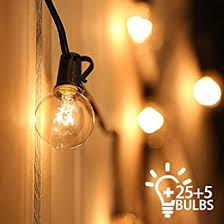 Outdoor String Lights Mains Powered Festoon Lighting 25ft G40 Ip44 For Indoor Outdoor Decor Wedding Backyard Patio Cafe Garden Party Decoration Tomshine 25 Bulbs 5 Spare Bulbs 3 Fuse Amazon Co Uk Lighting