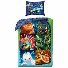 train your dragon 3 set single bed glow