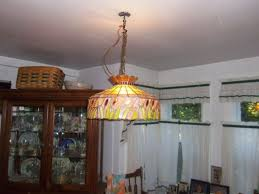 stained glass chandelier dining room