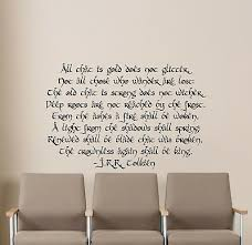 Tolkien Quote Wall Decal Lord Of The Rings Gift Vinyl Sticker Poster Decor 27v Ebay
