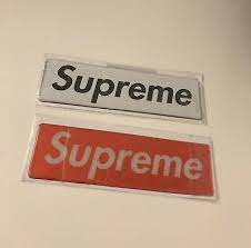 Supreme Box Logo Vinyl Sticker Scarface Gun Decal Bumper Al Pacino Movie Chain Stickers Decals